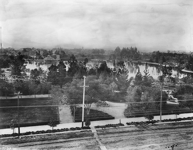 Westlake Park, Los Angeles, 1908